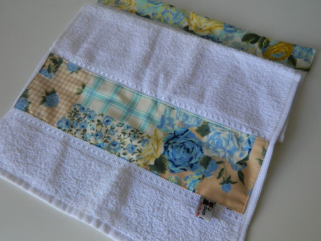Conjunto toalhinha - Azul florido