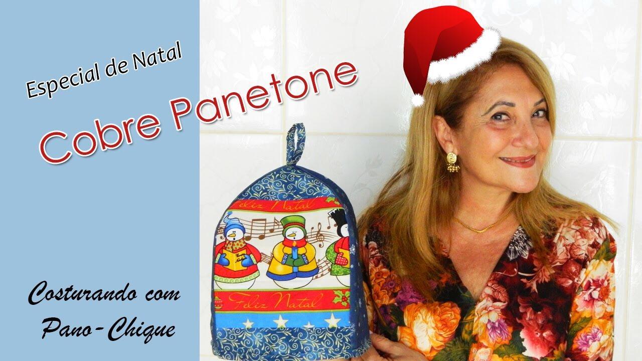 Cobre Panetone de tecido – Especial de Natal
