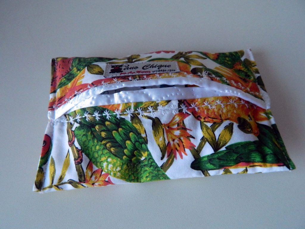 porta lenço tropical