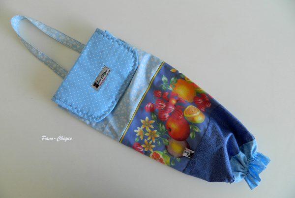 Puxa sacos azul - Frutas