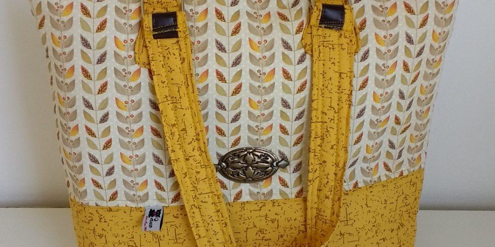 Bolsa folhinhas amarelas