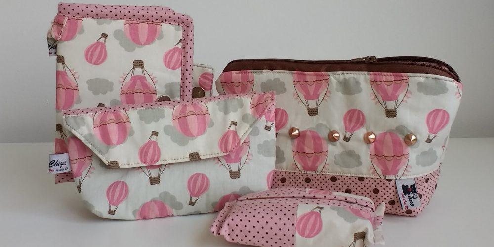 Conjunto balões Rosa