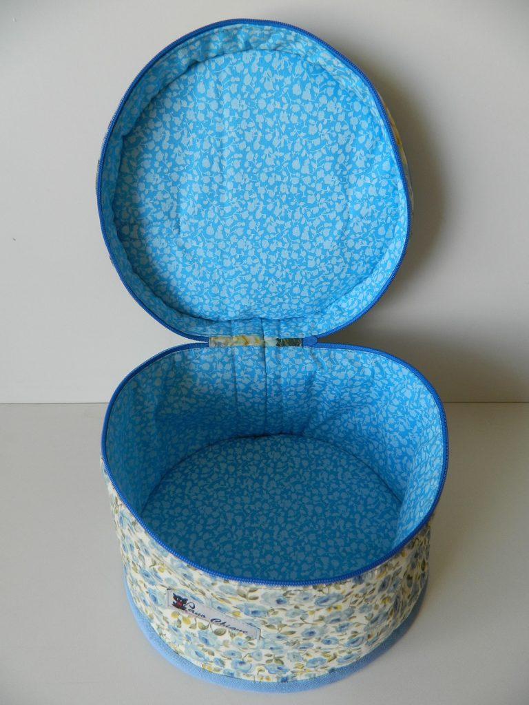 Conjunto porta marmita redondo - Azul florido