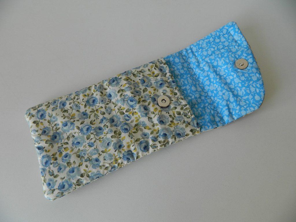 Conjunto porta talher - Azul florido