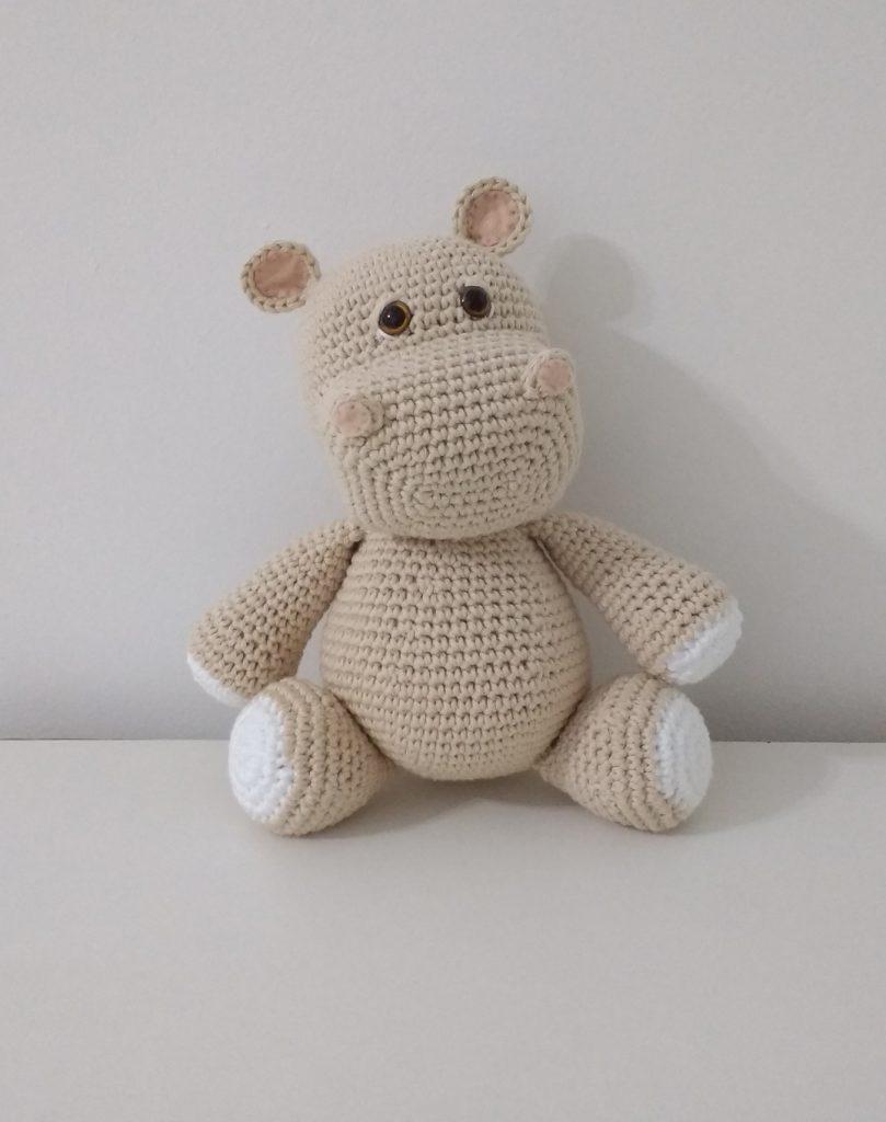 Hipopótamo de crochê - Amigurumi