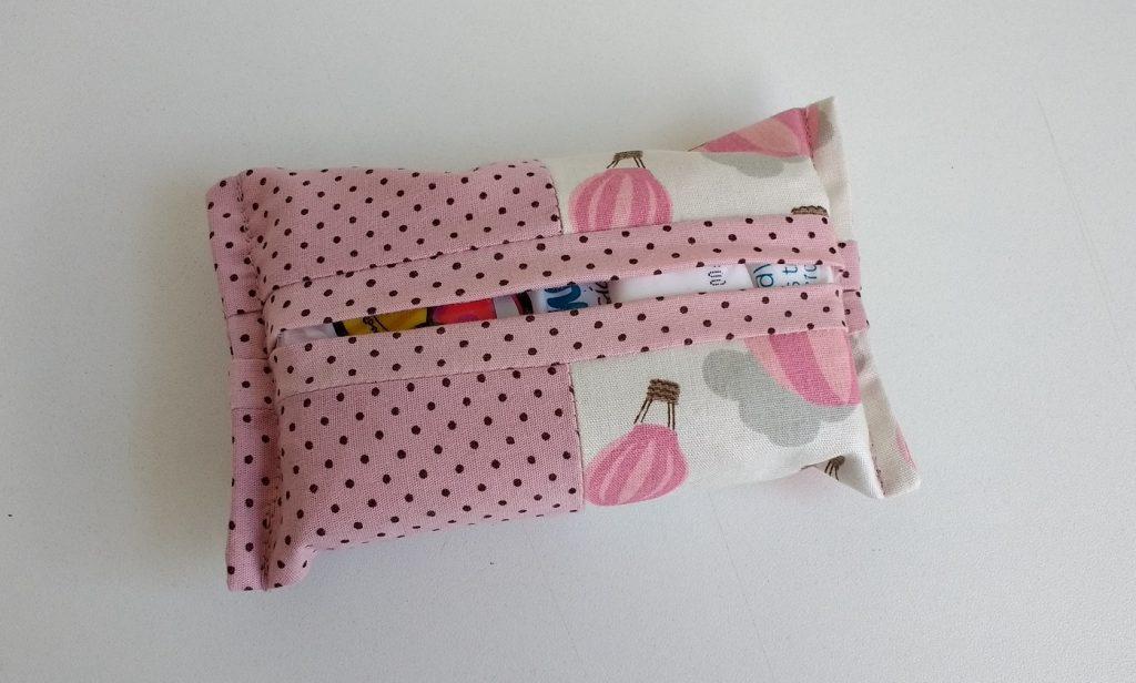 Porta lenços balões rosa